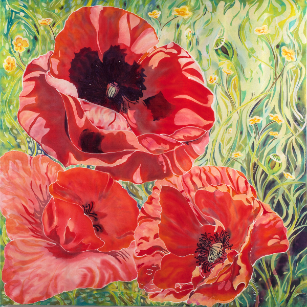 claire-rudin-poppies-with-buttercups