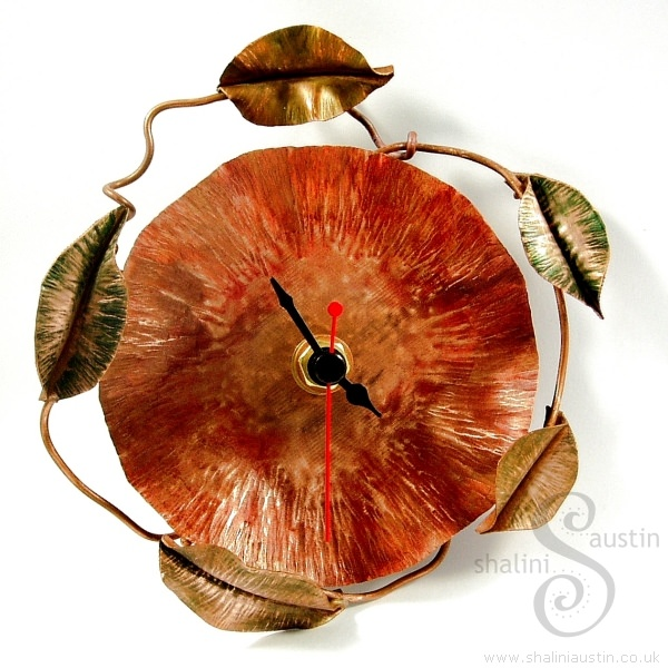 Poppy Copper Clock