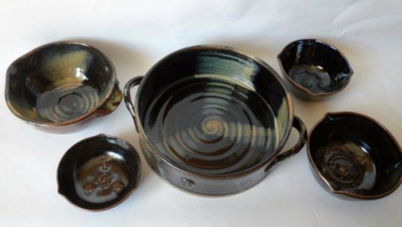 Occasionally I glaze with blacks and brown.