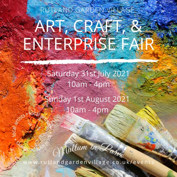 Craft Bazaar in the Conservatory during The Art, Craft, & Enterprise Fair 2021 at Rutland Garden Village